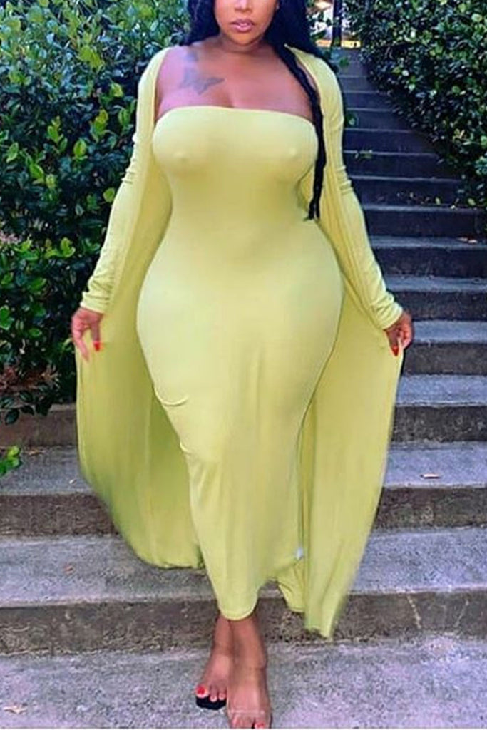 Sweet Solid Plus Size