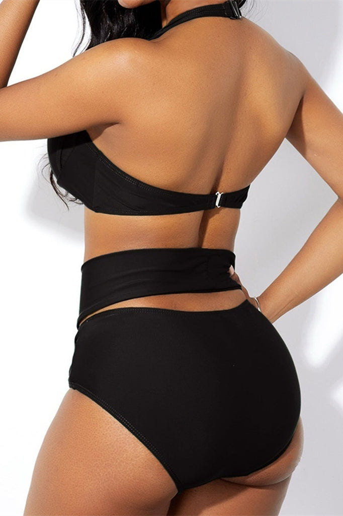 Fashion Sexy Solid Hollowed Out Swimwears