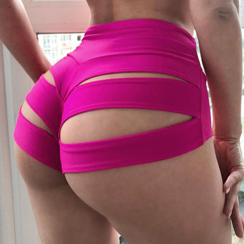 Sexy Solid Hollowed Out Skinny High Waist Bottoms