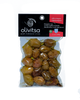 Green Whole Olives with mixed pepper and Extra Virgin Olive Oil 250gr Vacuum