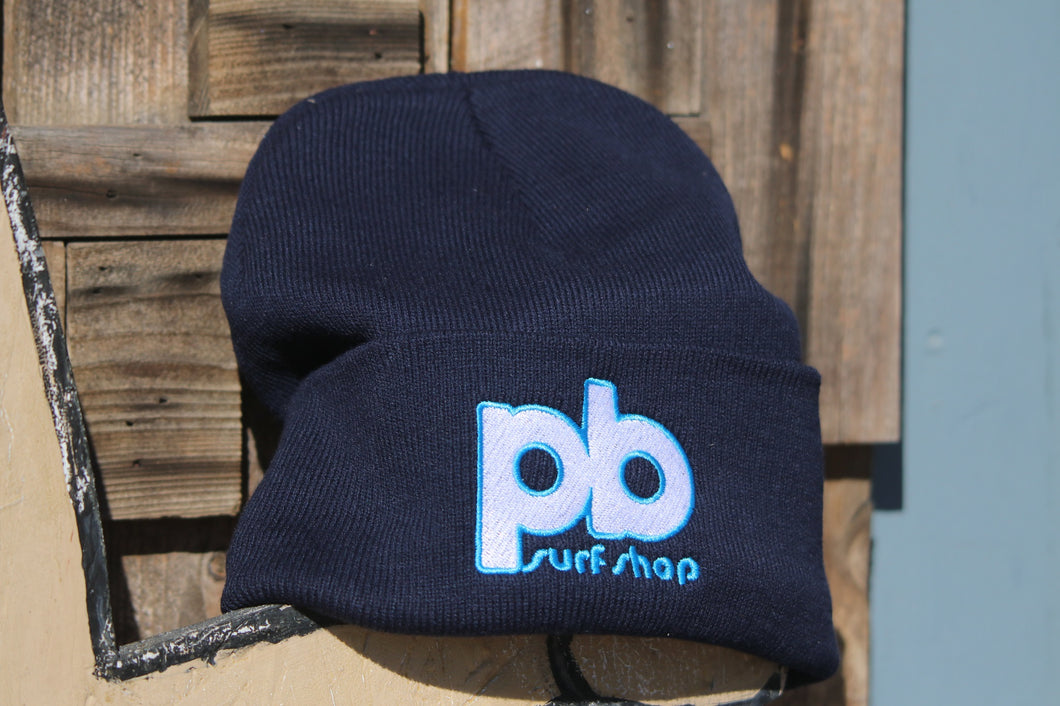 PB Surf Shop Embroidered Beanie