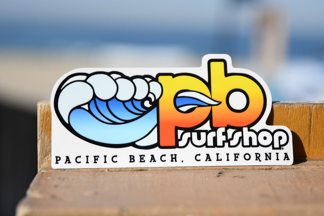 PB Surf Shop Stickers