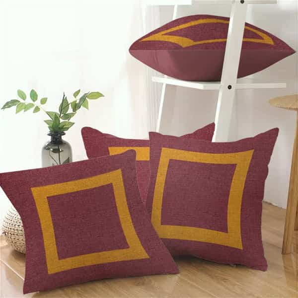 4 Pcs. Cushions - Multi Color (Red, Yellow)