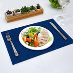 Load image into Gallery viewer, Jacquard Table Mat - Pack of 6 (Royal Blue)
