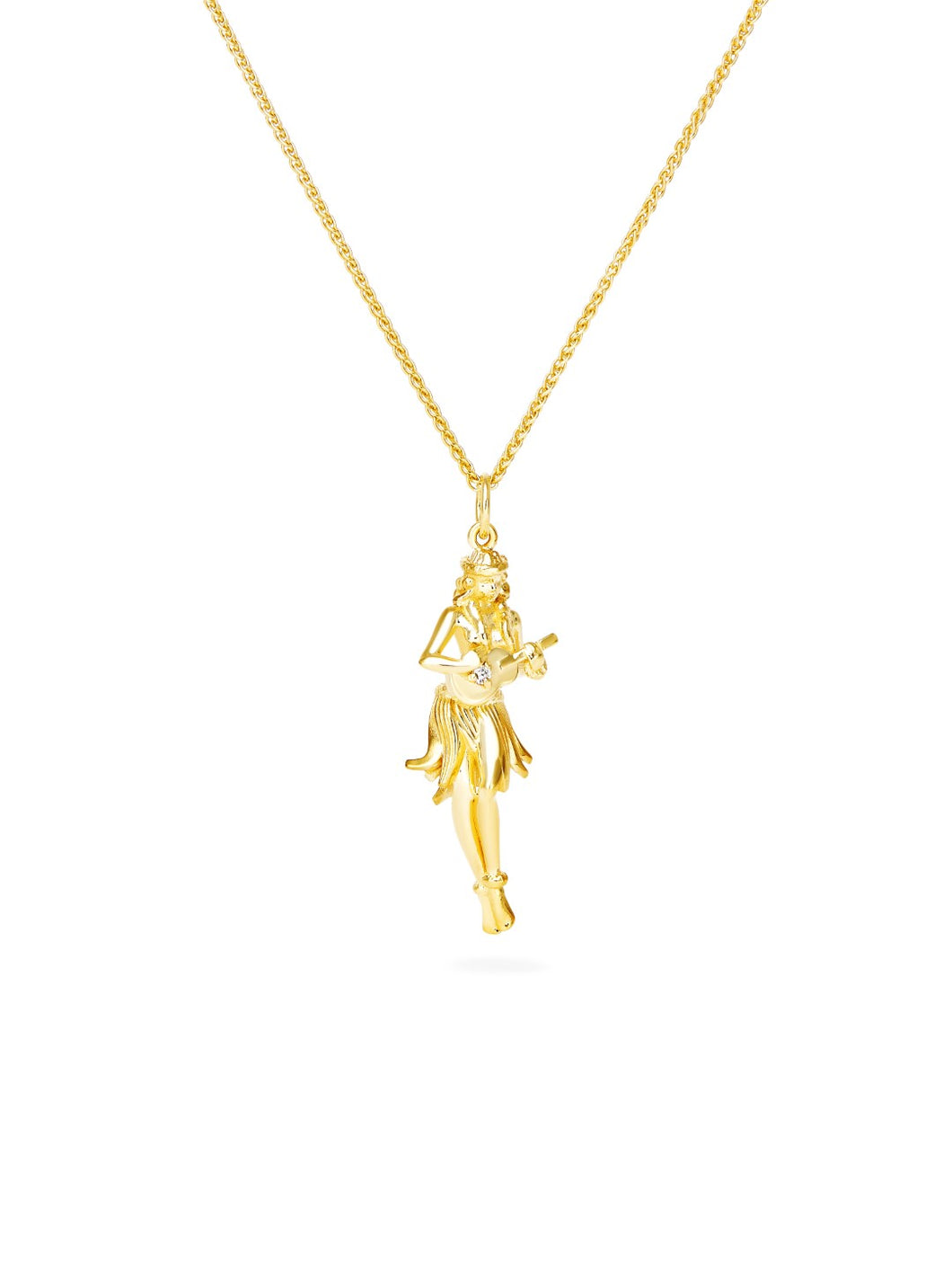 Hula Girl Pendant & Chain