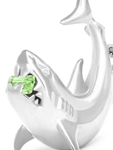 Load image into Gallery viewer, White Gold Shark Pendant & Chain (1/1)