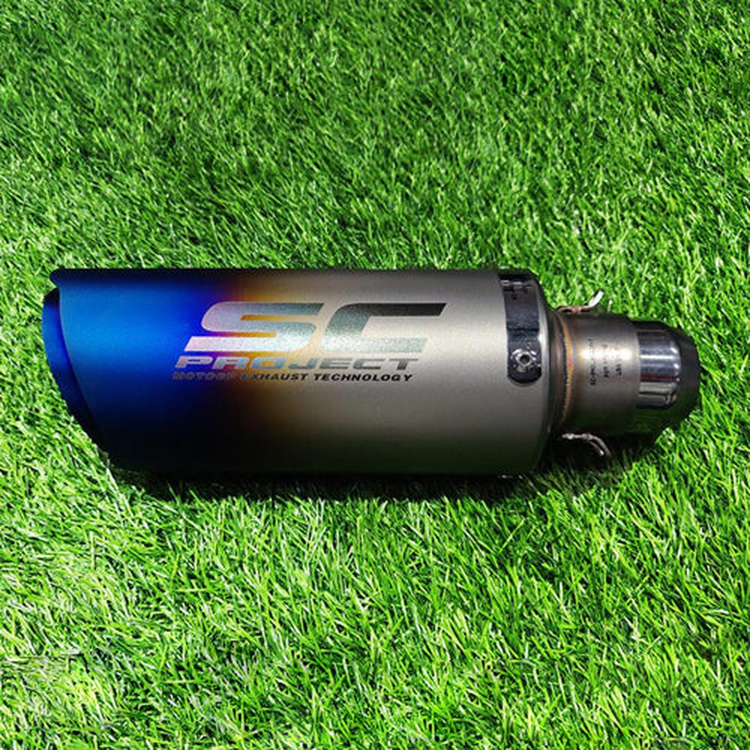 SC Project Dual Tone Sports Exhaust For Bike|Motorcycle Sports Silencer|Universal Fitting