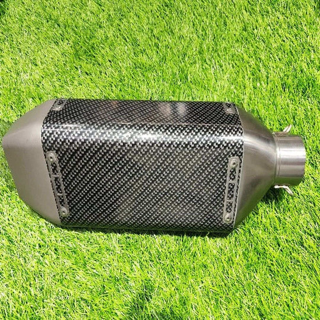 Carbon Fiber Triangle Shape Sports Exhaust For Bike|Motorcycle Sports Silencer|Universal Fitting