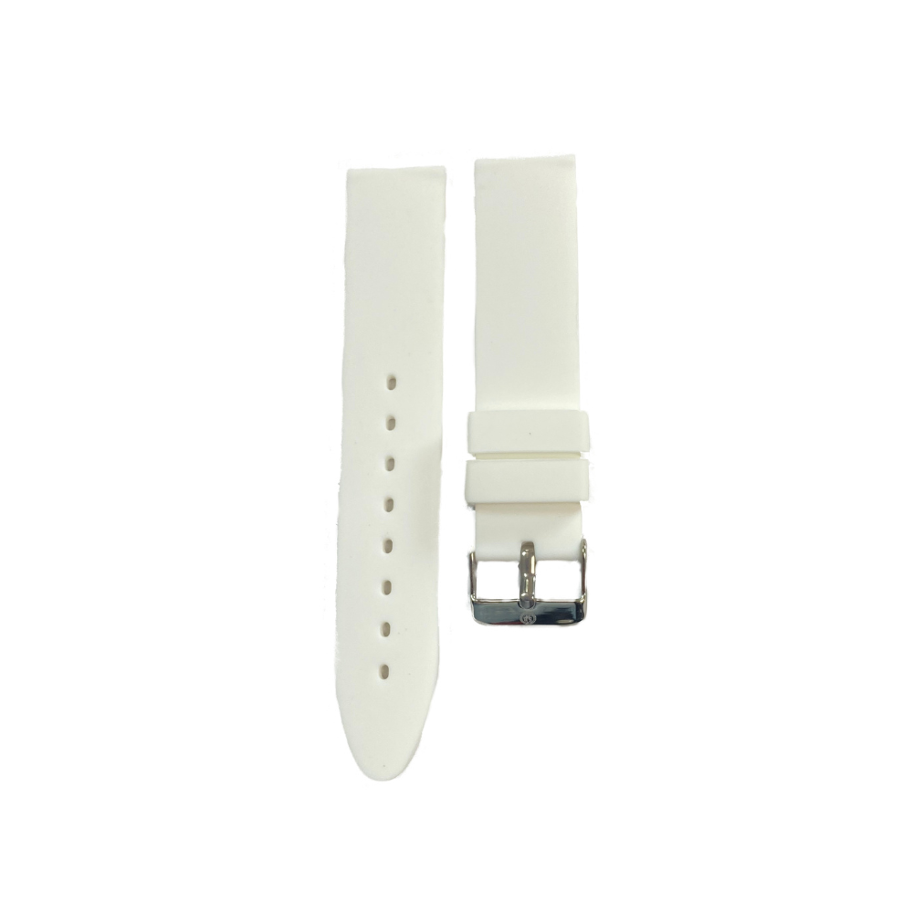 White Rubber strap