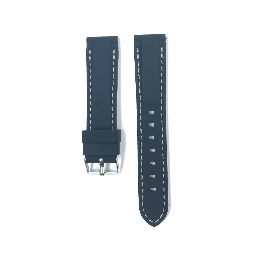 Black Rubber with Grey Stichting strap
