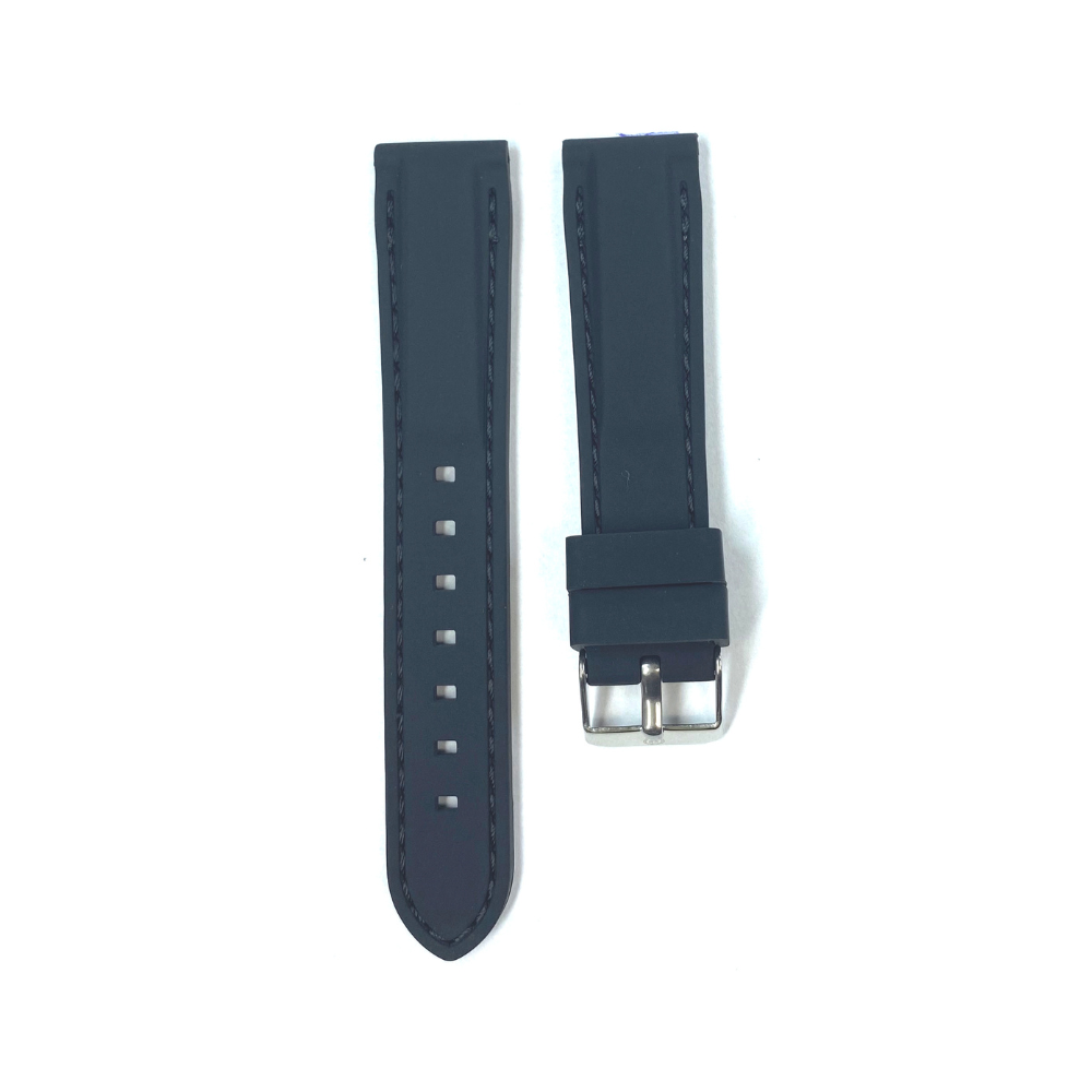 Black Rubber with Black Stichting strap