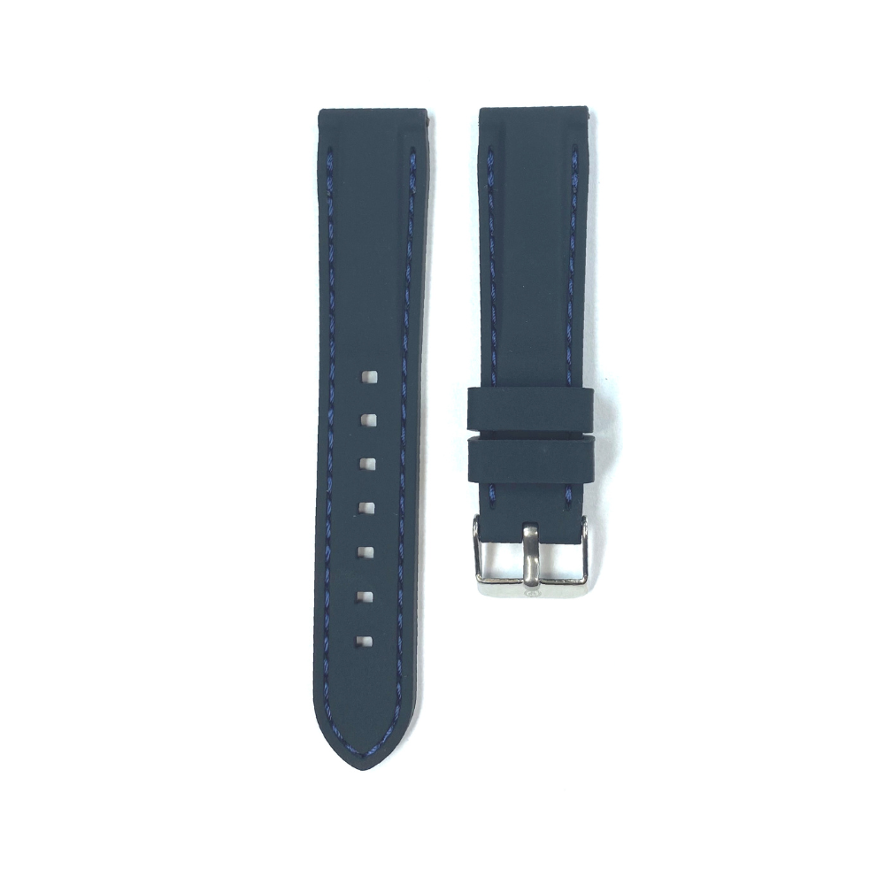 Black Rubber with Blue Stichting strap