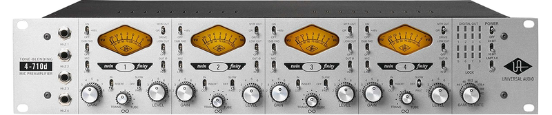 Universal Audio 4-710D Twin-Finity Four Channel tone-blending mic preamp