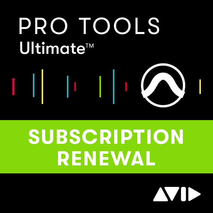 Pro Tools 1-Year Subscription RENEWAL continued software use, updates + support for a year