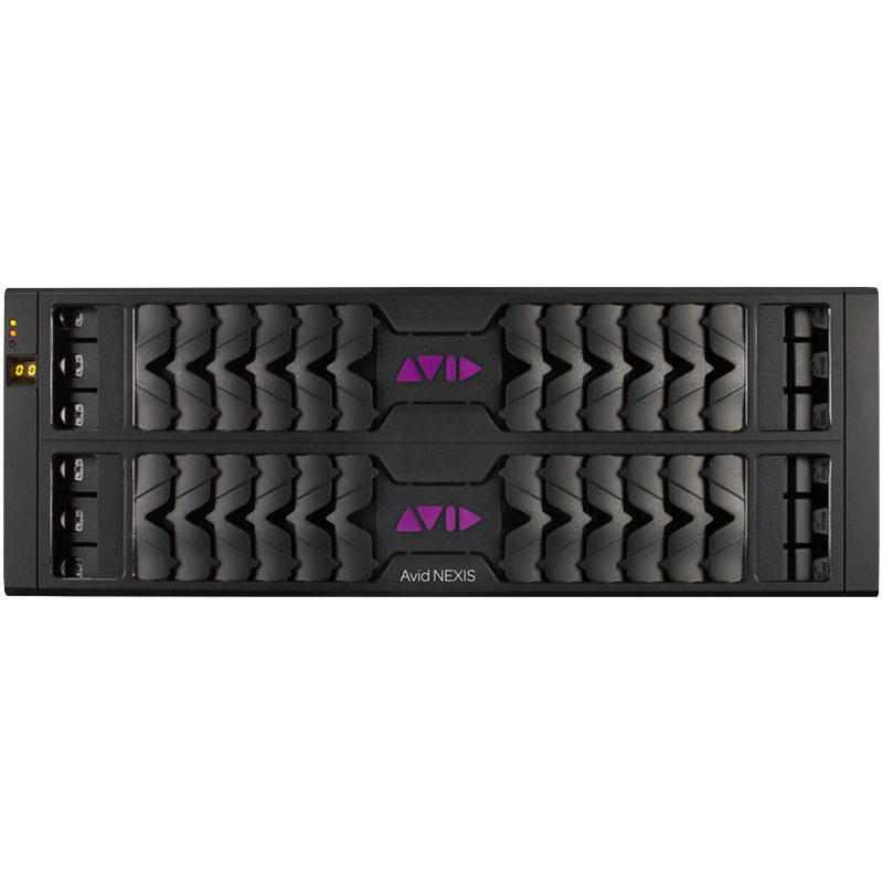 Avid NEXIS | E4 200TB. Includes Avid NEXIS | FS Foundation E4 Engine with two 100TB Media Packs, 2 drive slot covers & ExpertPlus w/Hardware Support