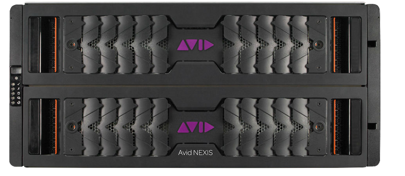 Avid NEXIS | E5 240TB, Half populated 4x 60TB Media Packs, includes; two 800GB SSDs, two 6TB spare drives, two 220V PSU, 5 cooling modules, rack mount kit. ExpertPlus with Hardware Support