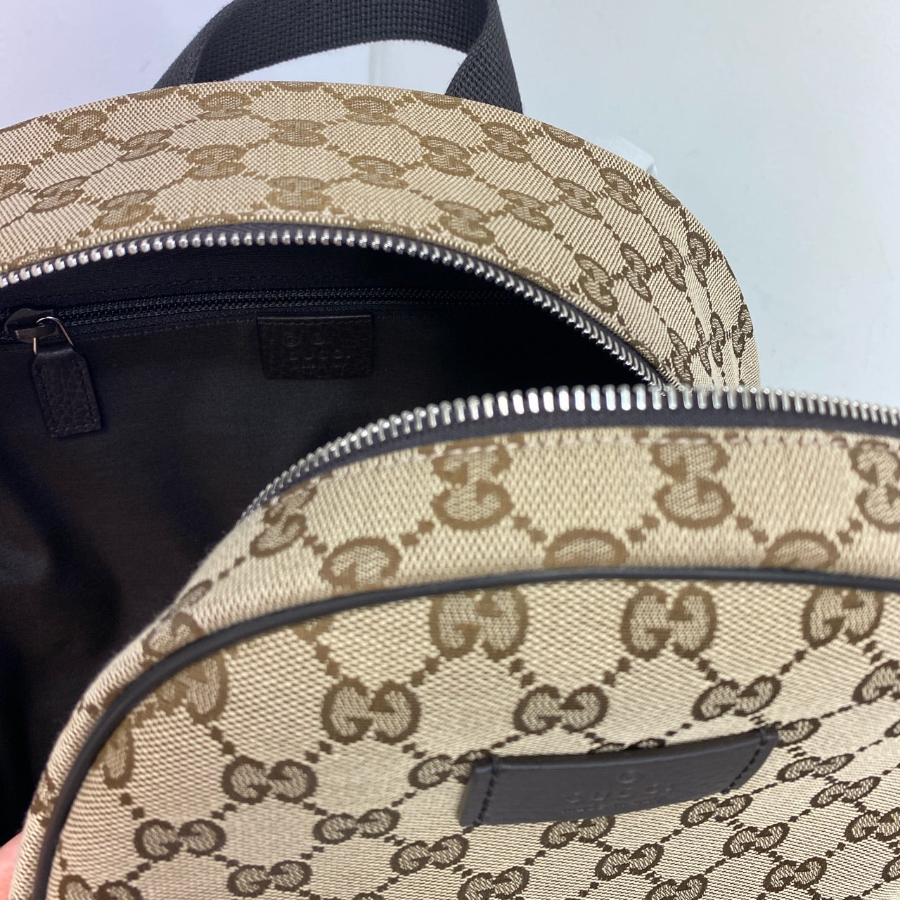GUCCI GG VALIGERIA SUPREME CANVAS BACKPACK