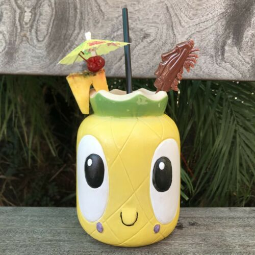 32oz. Ventiki Pineapple Mug, Design By Tiki Tony & Produced By Munktiki Imports