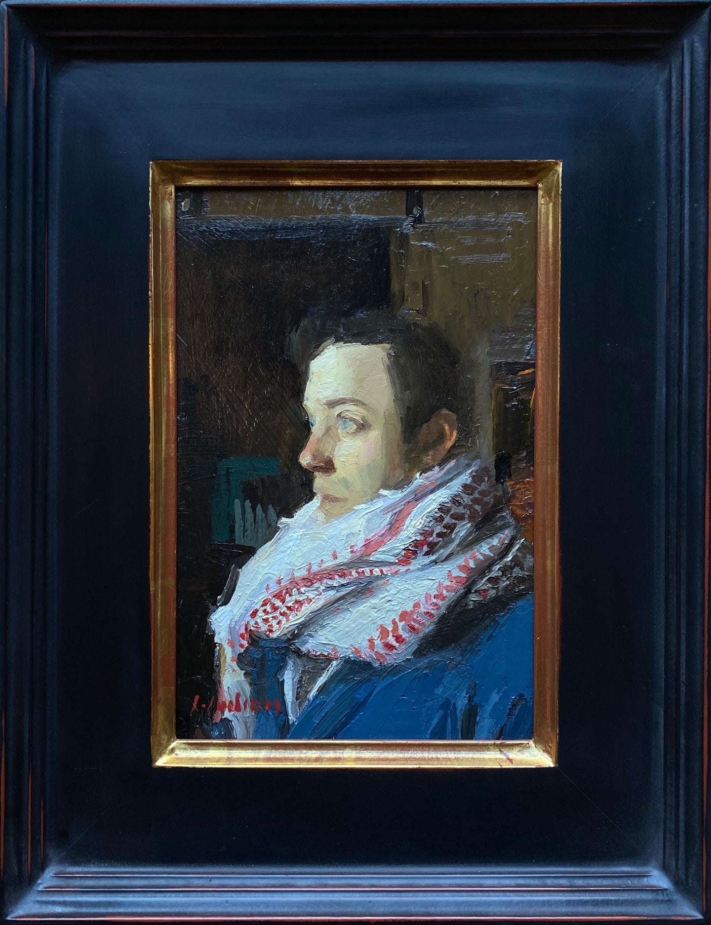 Self Portrait with Bundled Scarf