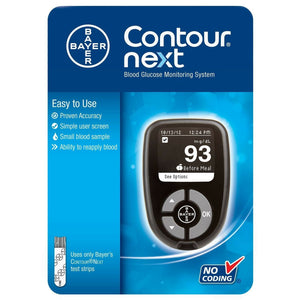 Contour Next Blood Glucose Meter Bayer Monitoring System Bayer
