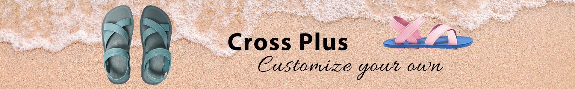Customize your own Cross Plus Flip Flop with Moochuu India