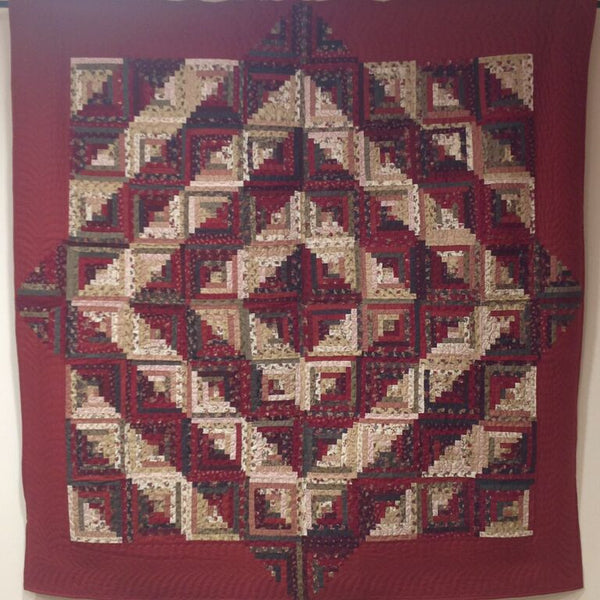 Kit Log Cabin Quilt - Courtyard