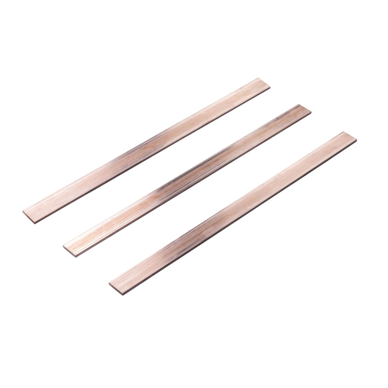 Copper busbar set 30x5mm unperforated length 1240mm L1, L2, L3