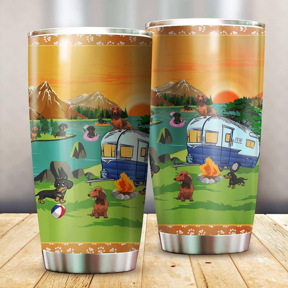 Dachshund  Camping Stainless Steel Insulated Tumbler Cups