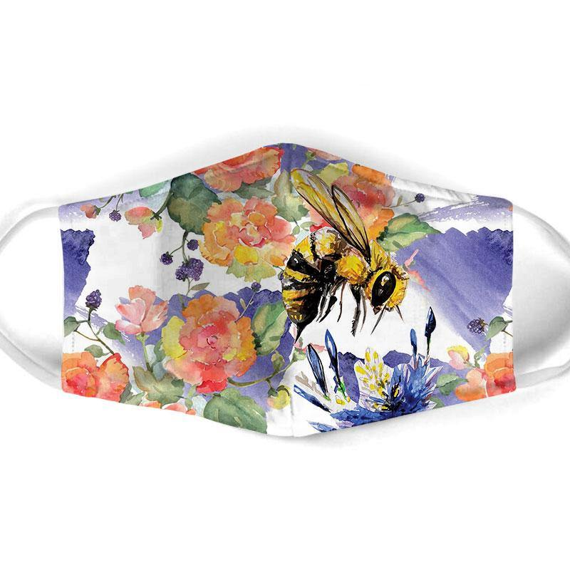 Bee  All Over Prints Cloth Mask 9