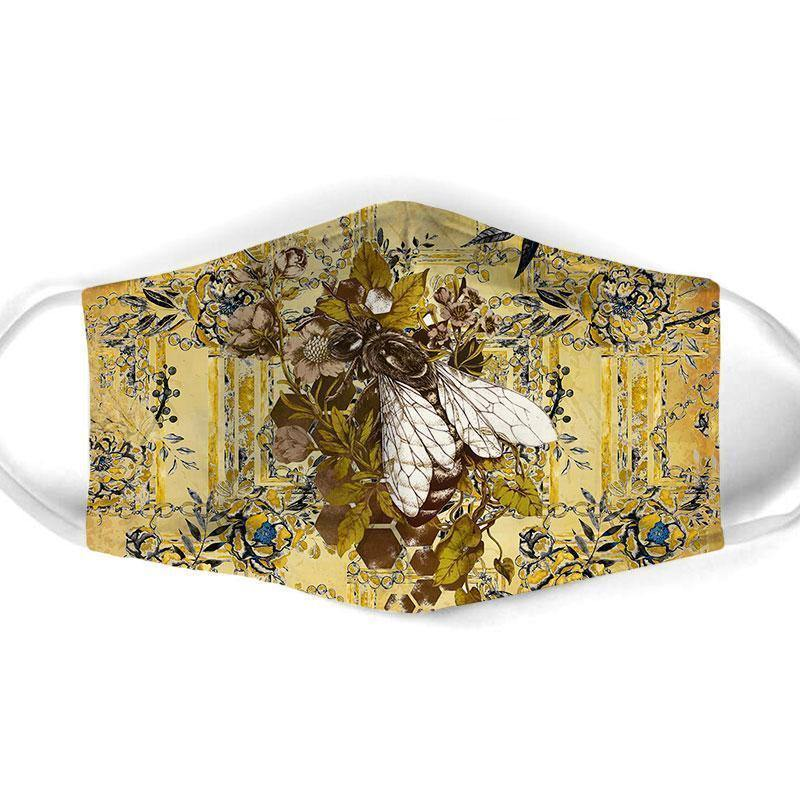 Bee  All Over Prints Cloth Mask 21