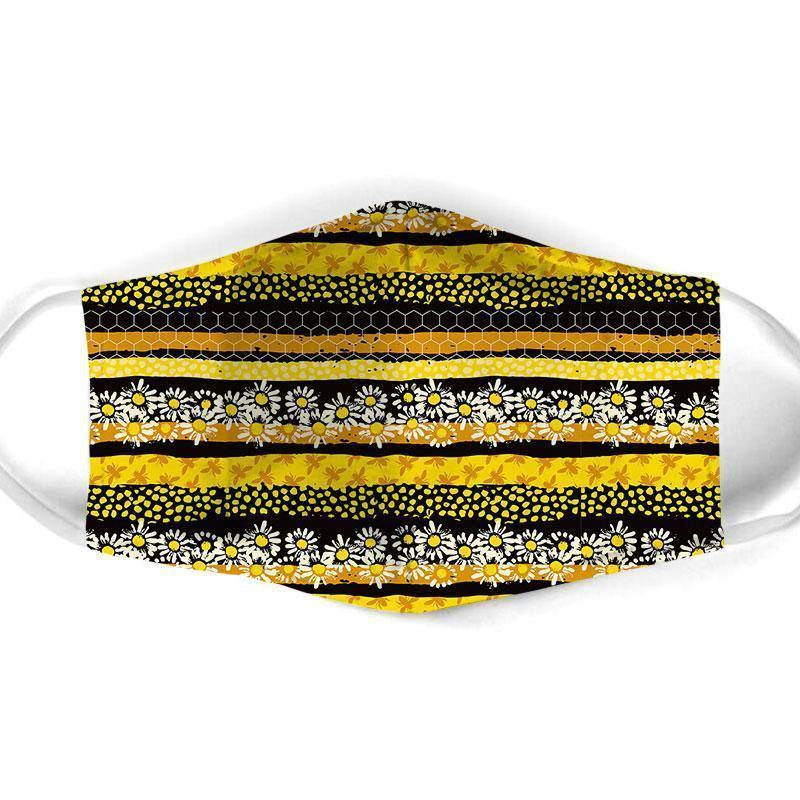 Bee All Over Prints Cloth Mask 50 - Family Presents - Great Blanket, Canvas, Clothe, Gifts For Family
