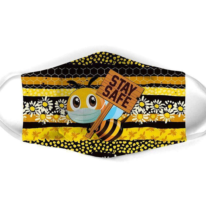 Bee All Over Prints Cloth Mask 34