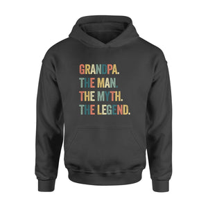 Grandpa the man the myth the legend christmas gift - Standard Hoodie - Family Presents