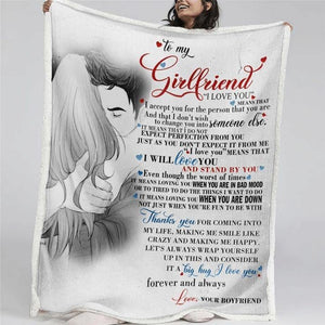 TO MY GIRLFRIEND I LOVE YOU Blanket - Fleece Blanket