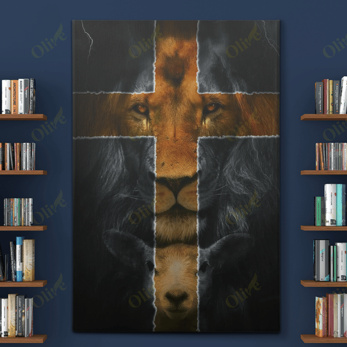 Jesus - Amazing lion and a lamb Canvas