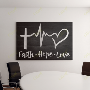 Jesus - Faith Hope Love Canvas