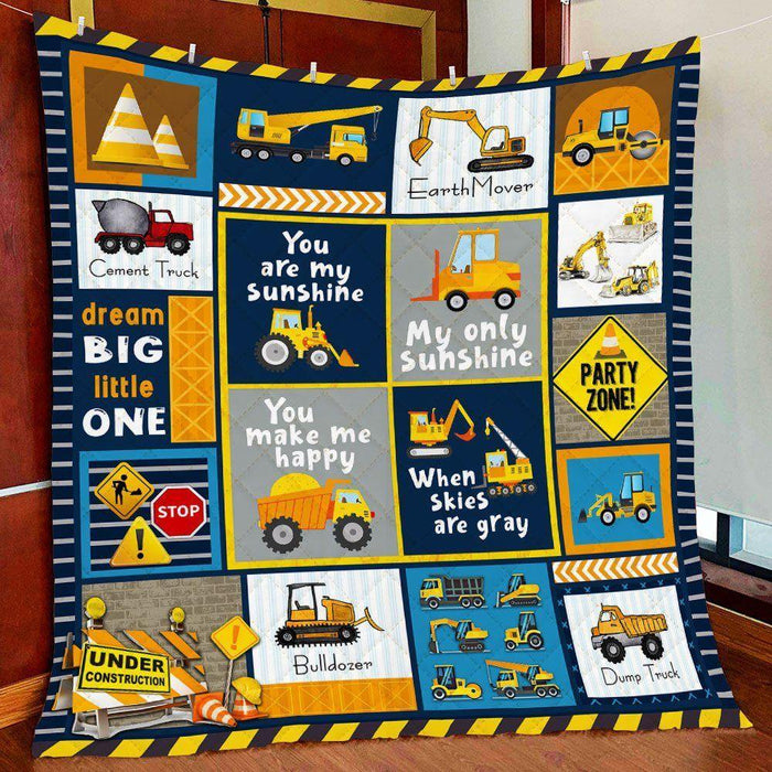 Heavy Equipment Boy, I Love You - Fleece Blanket