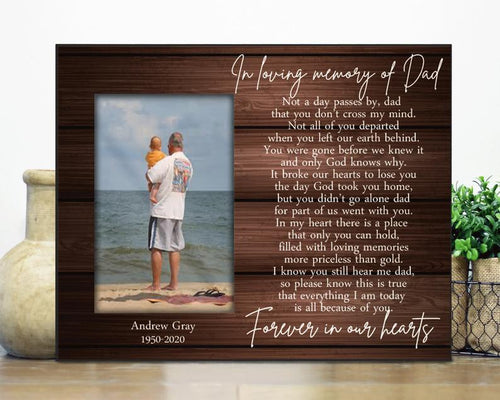 Personalized Father's Day Canvas, Gift From Son To Dad - Loss of dad Gift /Sympathy Gift / Father Remembrance in loving memory / Bereavement Condolence Grieving dad