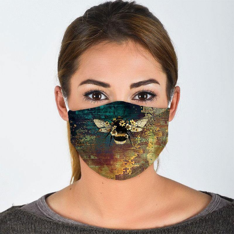 BEE ALL OVER PRINTS CLOTH MASK 24