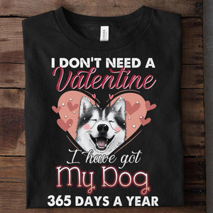 Siberian Husky Standard T-shirt - I dont need a valentine - Family Presents - Great Blanket, Canvas, Clothe, Gifts For Family