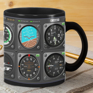 Pilot Indicator Mug - Family Presents - Great Blanket, Canvas, Clothe, Gifts For Family