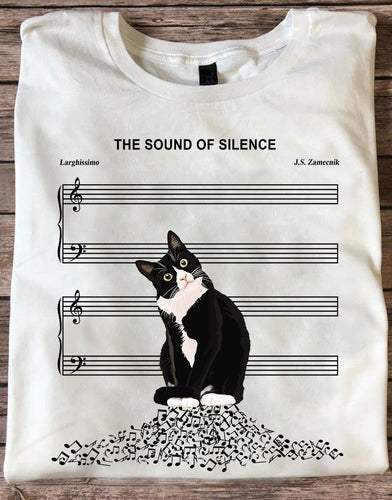 The Sound Of Silence Cat Standard T-Shirt