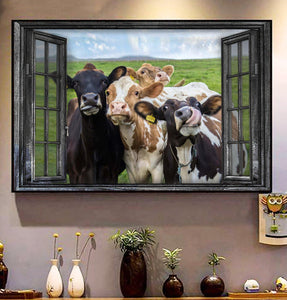 Cows Wall Art Canvas