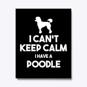I Can't Keep Calm I Have A Poodle Canvas - Family Presents - Great Blanket, Canvas, Clothe, Gifts For Family