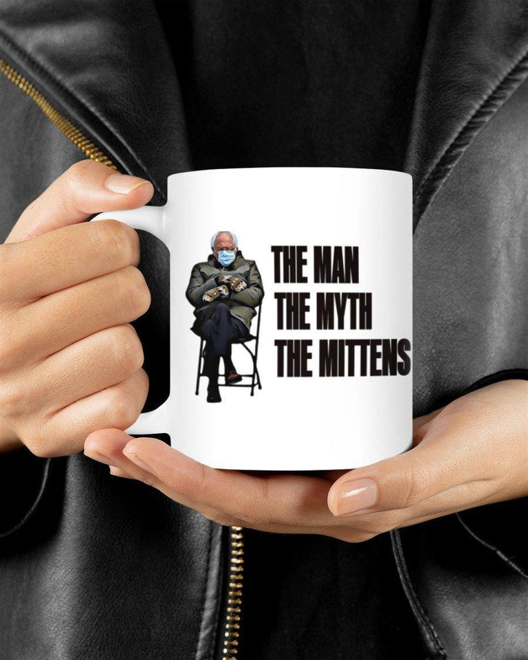 White Mug Bernie the mittens Mugs - Family Presents - Great Blanket, Canvas, Clothe, Gifts For Family