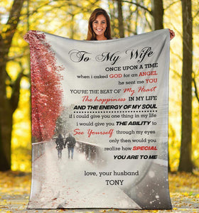 Personalized To My Gorgeous Wife - You are the beat of my heart - Family Presents - Great Blanket, Canvas, Clothe, Gifts For Family