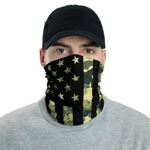 Camouflage, US American Flag Camo Face Gaiter Cover