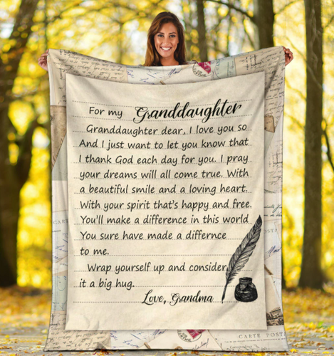 The greatest gift to granddaughter from grandma Blanket - Gift for Christmas, Birthday