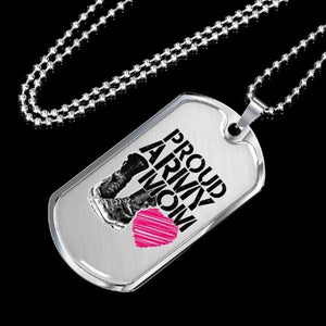 Mothers day dog tag - Gift for veteran mom from daughter and son - Military Dog Tag
