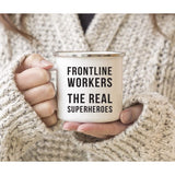 Funny Self Isolation Quarantine Pandemic Virus Stainless Steel Campfire Coffee Mug Gift, Frontline Workers The Real Superheroes - Family Presents - Great Blanket, Canvas, Clothe, Gifts For Family